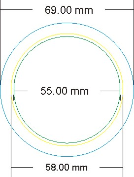 Please Ensure That All Artwork Is To SizeBlue Circle 69mm Includes Approx 5mm Of Bleed Cover The Sides Badge FaceYellow 58mm