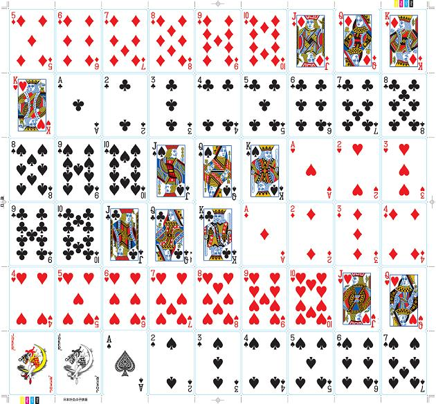 face of custom printed promotional poker plastic deck of playing cards