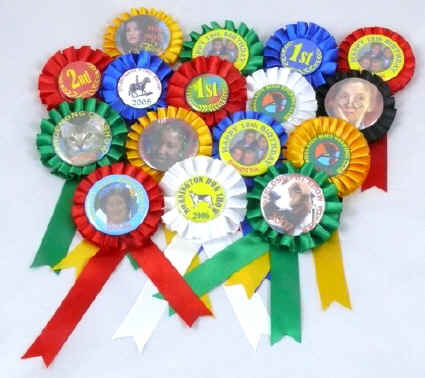 Sample of Button Badge Rosettes