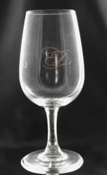 Gold Printed Wine Tester Glass