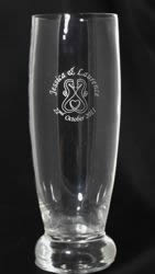 Silver Printed Beer Glass