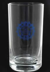Blue Printed Drinking Glass