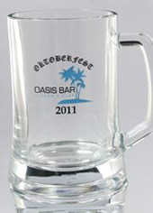 Black and Blue Two Colour Printed Beer Mug