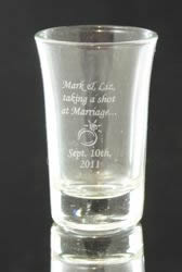 Silver Printed Shot Glass