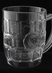 Black Printed Plastic Beer Mug