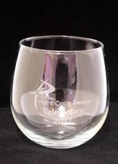 Silver Printed Stemless Wine Glass