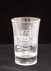 Printed White Shot Glass