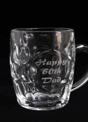 happy birthday dad etched beer glass mug melbourne australia