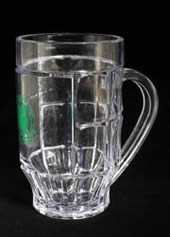 Green Printed Plastic Beer Mug